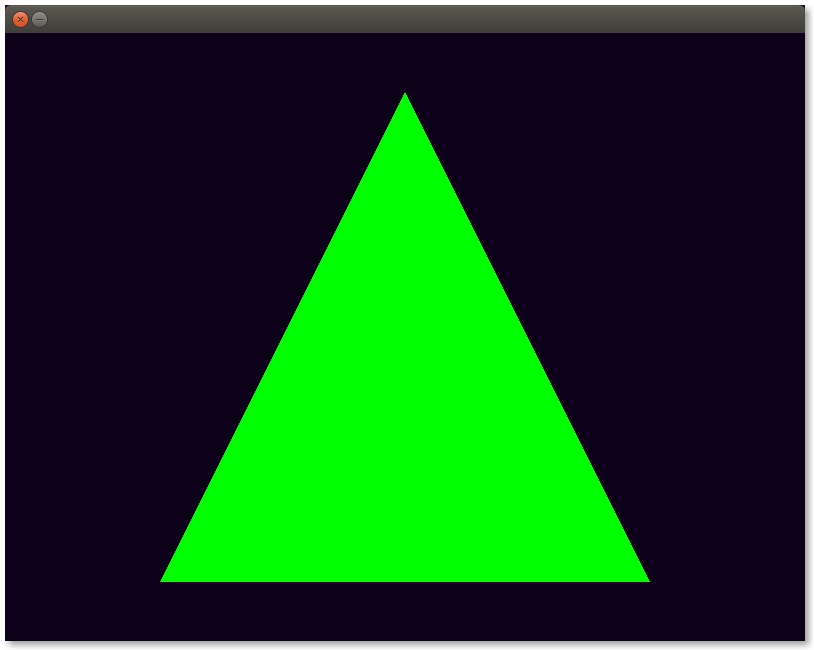 The lonely green triangle